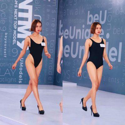 thi sinh vietnam's next top model dien ao tam ho bao khi tuyen truc tiep hinh anh 1