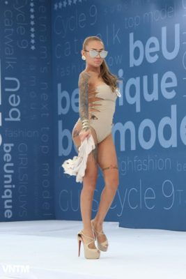 thi sinh vietnam's next top model dien ao tam ho bao khi tuyen truc tiep hinh anh 10