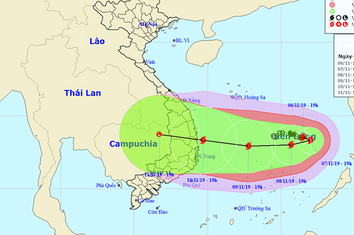 Dự báo thời tiết 7/11, bão số 6 liên tục mạnh thêm, có lúc giật cấp 14