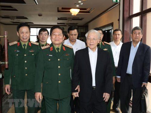 Tổng Bí thư chủ trì Hội nghị Tổng kết công tác quân sự, quốc phòng - ảnh 2