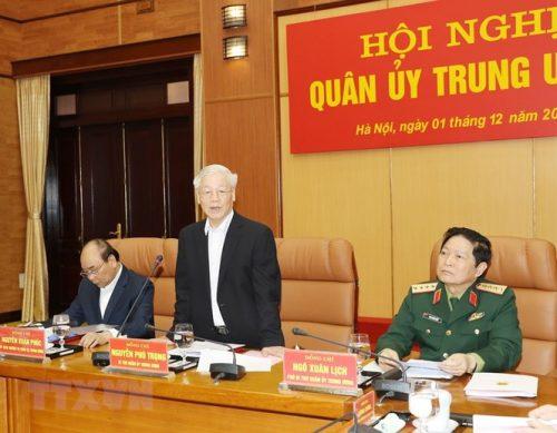 Tổng Bí thư chủ trì Hội nghị Tổng kết công tác quân sự, quốc phòng - ảnh 3