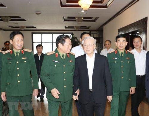 Tổng Bí thư chủ trì Hội nghị Tổng kết công tác quân sự, quốc phòng - ảnh 1