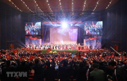 Đại hội đại biểu toàn quốc Hội Liên hiệp Thanh niên Việt Nam lần thứ VIII. (Ảnh: Văn Điệp/TTXVN)