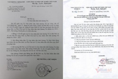 Đề nghị miễn nhiệm chức vụ Chủ tịch, Phó Chủ tịch tỉnh Quảng Trị