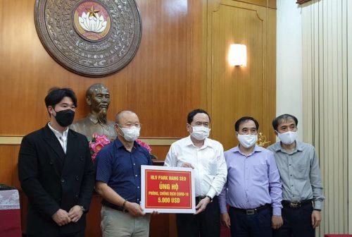 HLV Park Hang-seo ủng hộ 5.000 USD chống dịch COVID-19 - ảnh 1