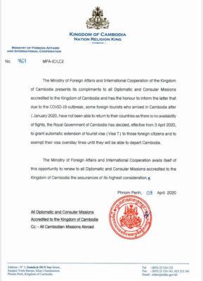 Campuchia tự động gia hạn visa cho du khách bị kẹt lại - Ảnh 1.