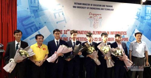 Việt Nam giành Huy chương Vàng Olympic Tin học quốc tế, xếp thứ 9 thế giới