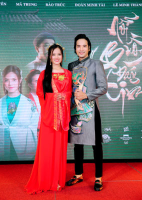 Đoàn Minh Tài diện trang phục cổ trang khi hóa thân thành Kim Trọng trong sự kiện - Ảnh 1.