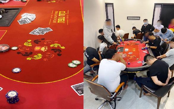 Phá sòng poker có người nước ngoài tham gia ở quận 2 - Ảnh 1.
