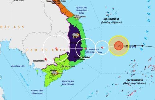 Hướng đi mới nhất của bão số 12: Tạm dừng khai thác 5 sân bay