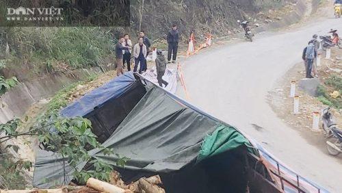 Cận cảnh hiện trường vụ xe tải chở keo đâm vào taluy khiến 7 người chết tại Thanh Hóa - Ảnh 3.