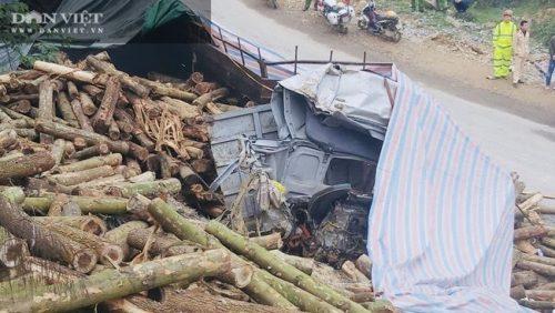 Cận cảnh hiện trường vụ xe tải chở keo đâm vào taluy khiến 7 người chết tại Thanh Hóa - Ảnh 1.