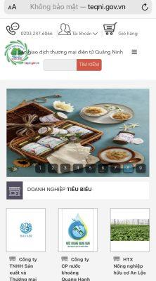 Sàn giao dịch thương mại điện tử Quảng Ninh đang trên 300 sản phẩm được niêm yết và giao dịch trực tuyến.