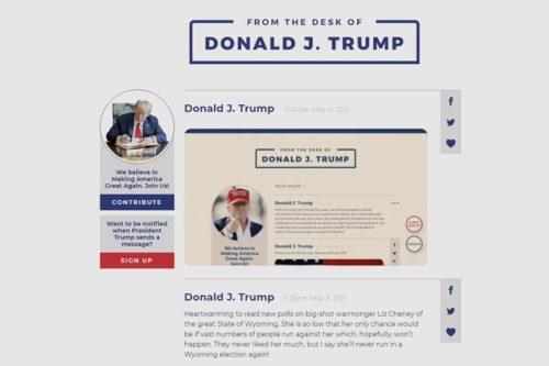 Ông Trump tái xuất trực tuyến, ra thông điệp