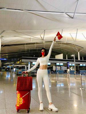 """Nhan sắc quyến rũ """"đốn tim"""" của Hoa hậu Khánh Vân trên đường sang Mỹ thi Miss Universe - Ảnh 8."""