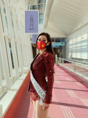 """Nhan sắc quyến rũ """"đốn tim"""" của Hoa hậu Khánh Vân trên đường sang Mỹ thi Miss Universe - Ảnh 2."""