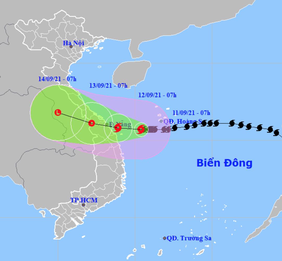 Bão số 5 đi chậm, Quảng Trị đến Quảng Nam mưa to có nơi trên 350mm
